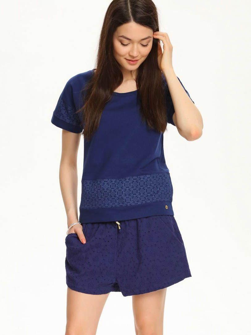 Top Secret Mikina dámská bez zapínání krátký rukáv - Tmavě modrá - velikost XL