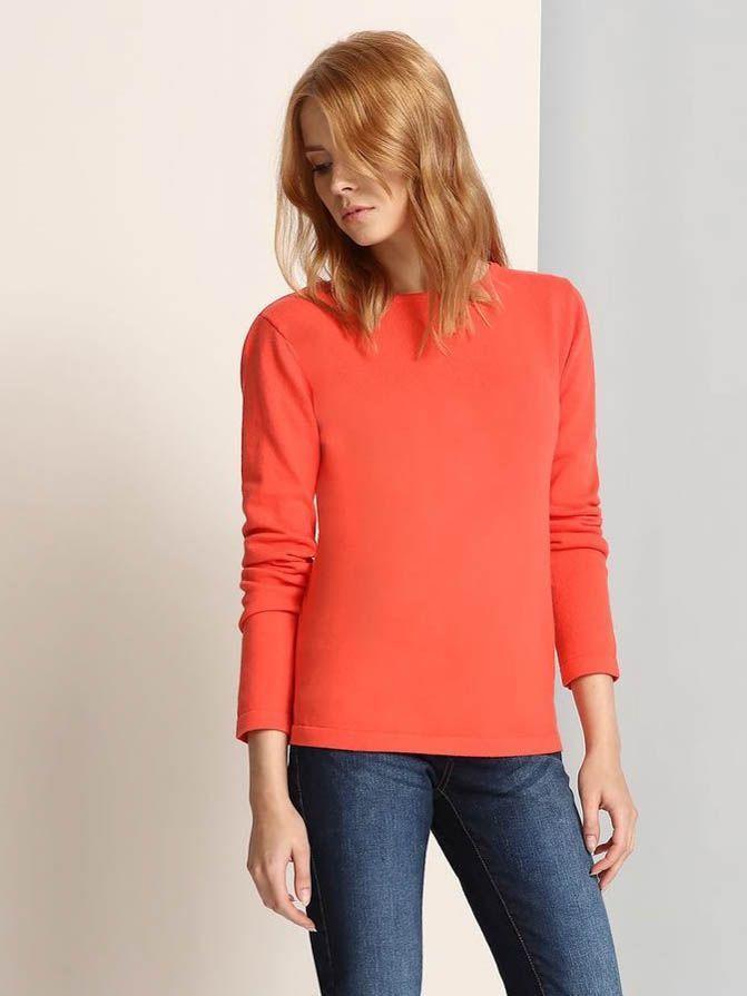 Top Secret Svetr dámský dlouhý rukáv - Oranžová - velikost 34