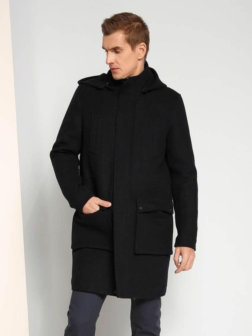 Top Secret Kabát pánský s kapucí - Tmavě modrá - velikost XXL