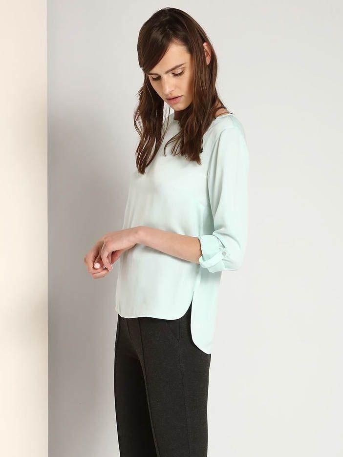 Top Secret Košile dámská 3/4 rukáv - Zelená - velikost 40