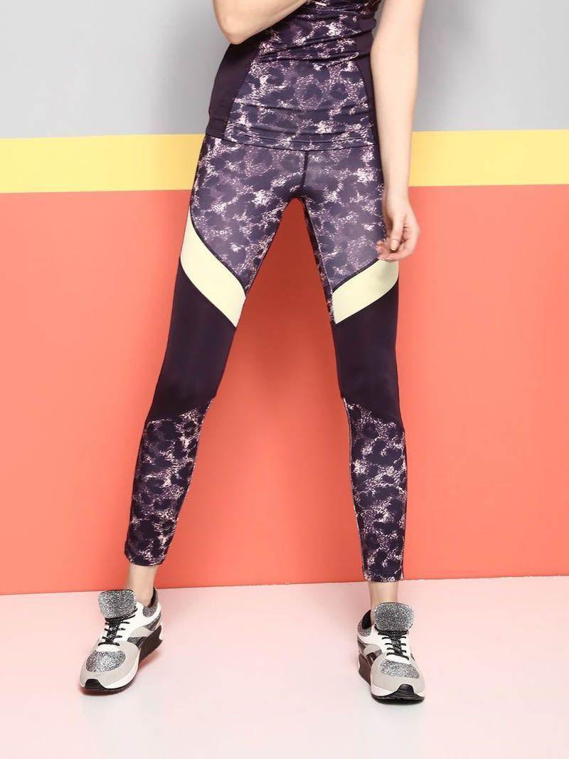 Top Secret Legíny dámské fitness - Fialová - velikost L