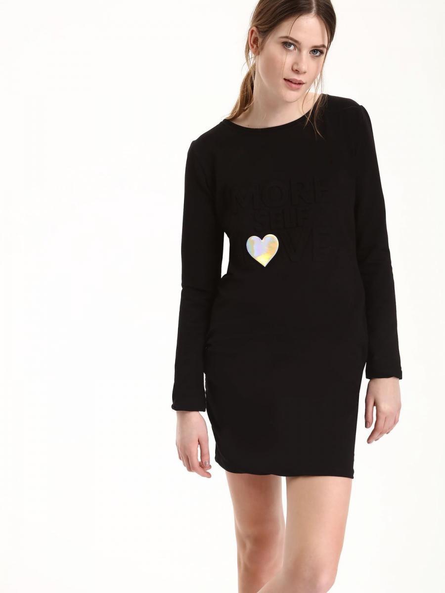 Top Secret šaty dámské s nápisem LOVE dlouhý rukáv