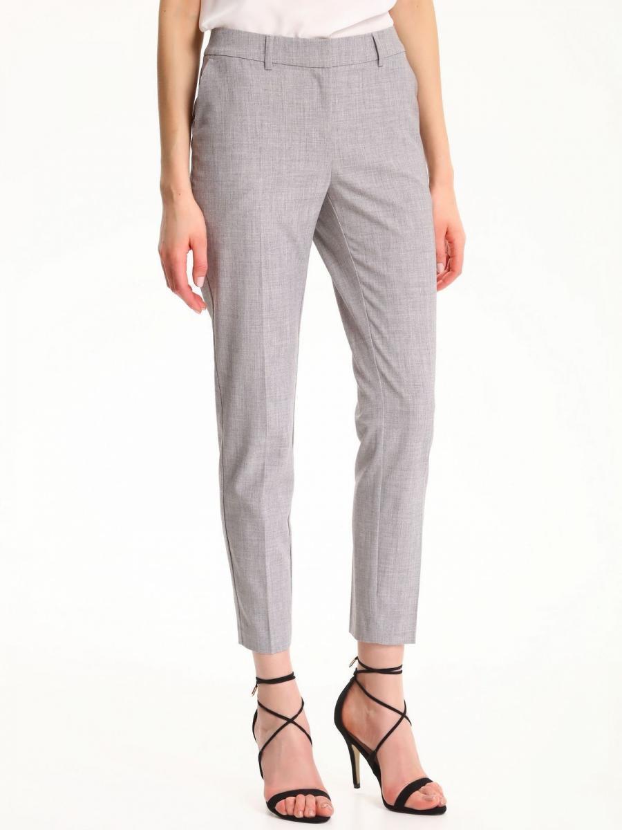 Top Secret Kalhoty dámské šedé společenské - Světle šedá - velikost 36