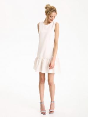 Šaty dámské s volánkem bez rukávu