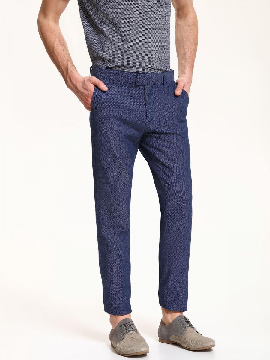 Top Secret Kalhoty pánské modré společenské - Tmavě modrá - velikost 31