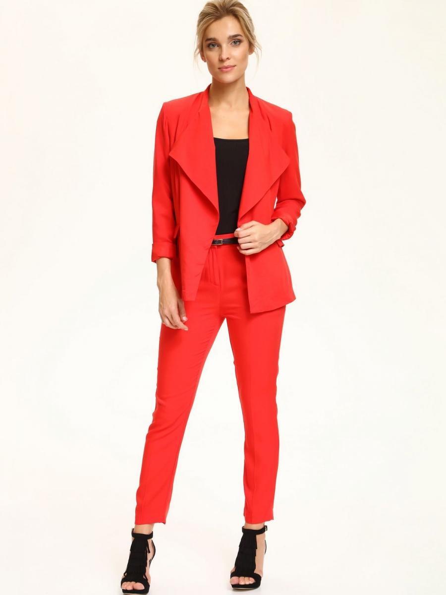 Top Secret Sako dámské červené bez zapínání - červená - velikost 34