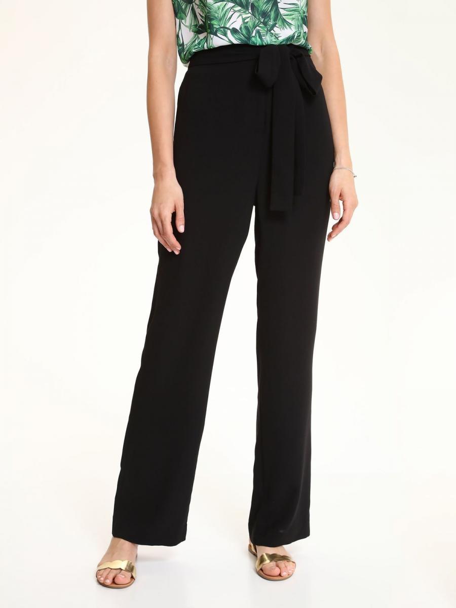 Top Secret Kalhoty dámské černé s širokými nohavicemi - černá - velikost 34