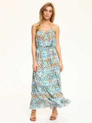 Šaty dámské dlouhé květované na ramínkách