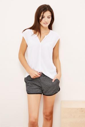 Košile dámská bílá s krátkým rukávem