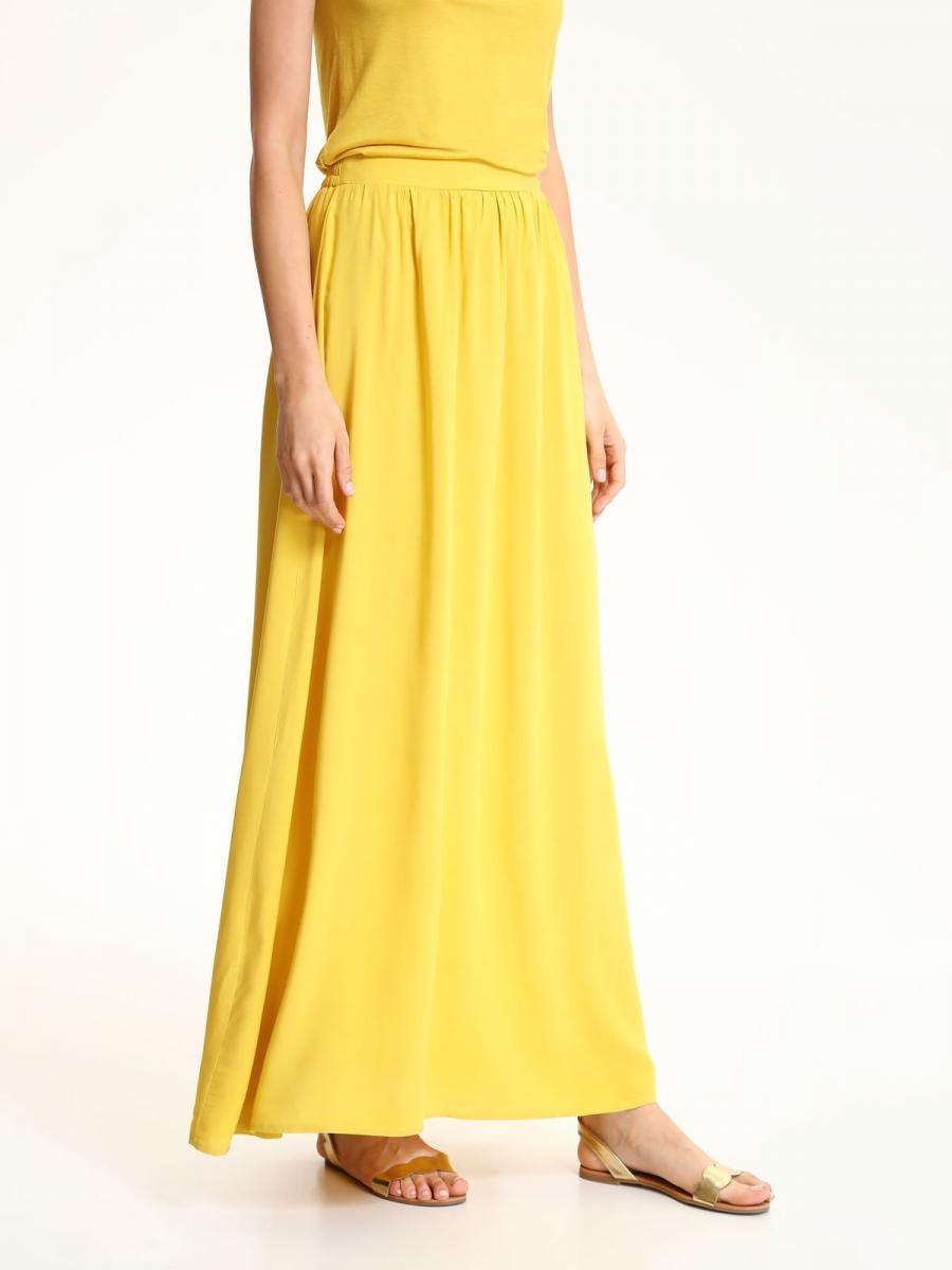 Top Secret Sukně dámská dlouhá žlutá
