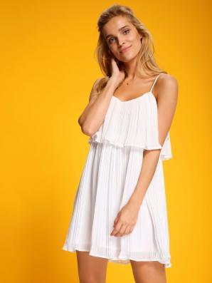 Šaty dámské bílé na ramínka