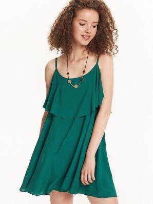 Šaty dámské zelené na ramínka