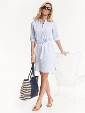 Košile dámská pruhovaná se zavazovacím páskem