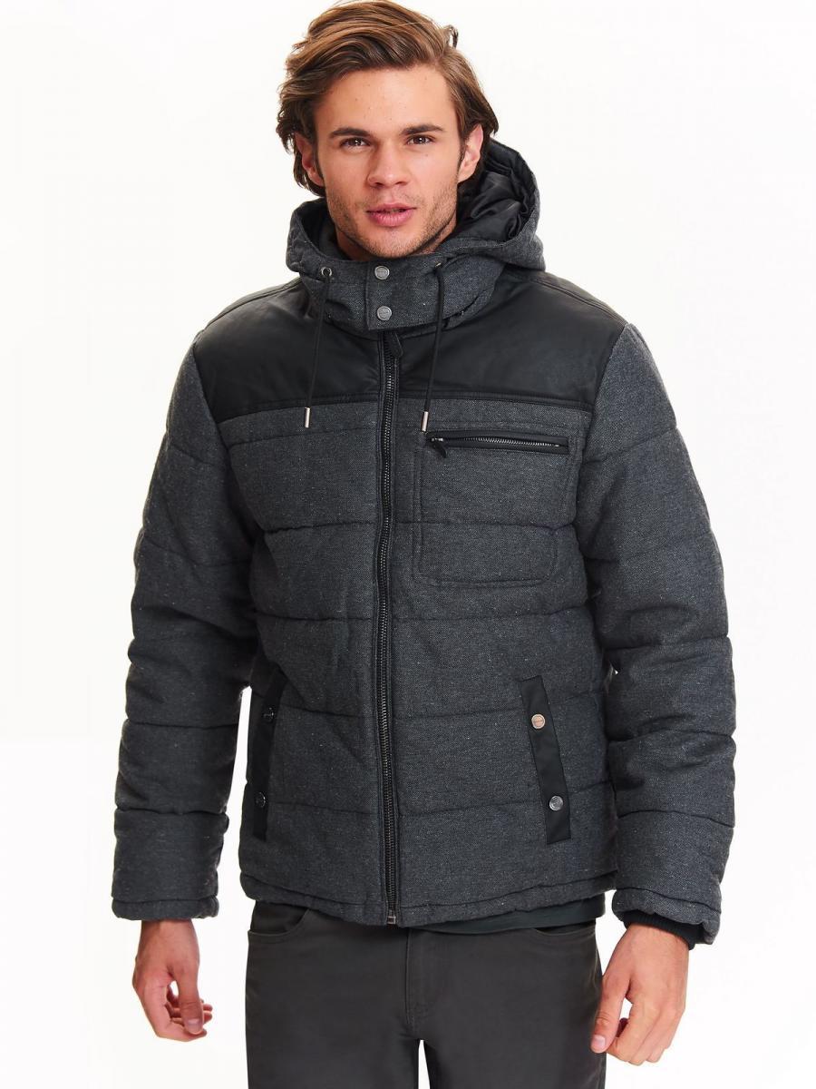 Top Secret Bunda pánská na zip s kapucí