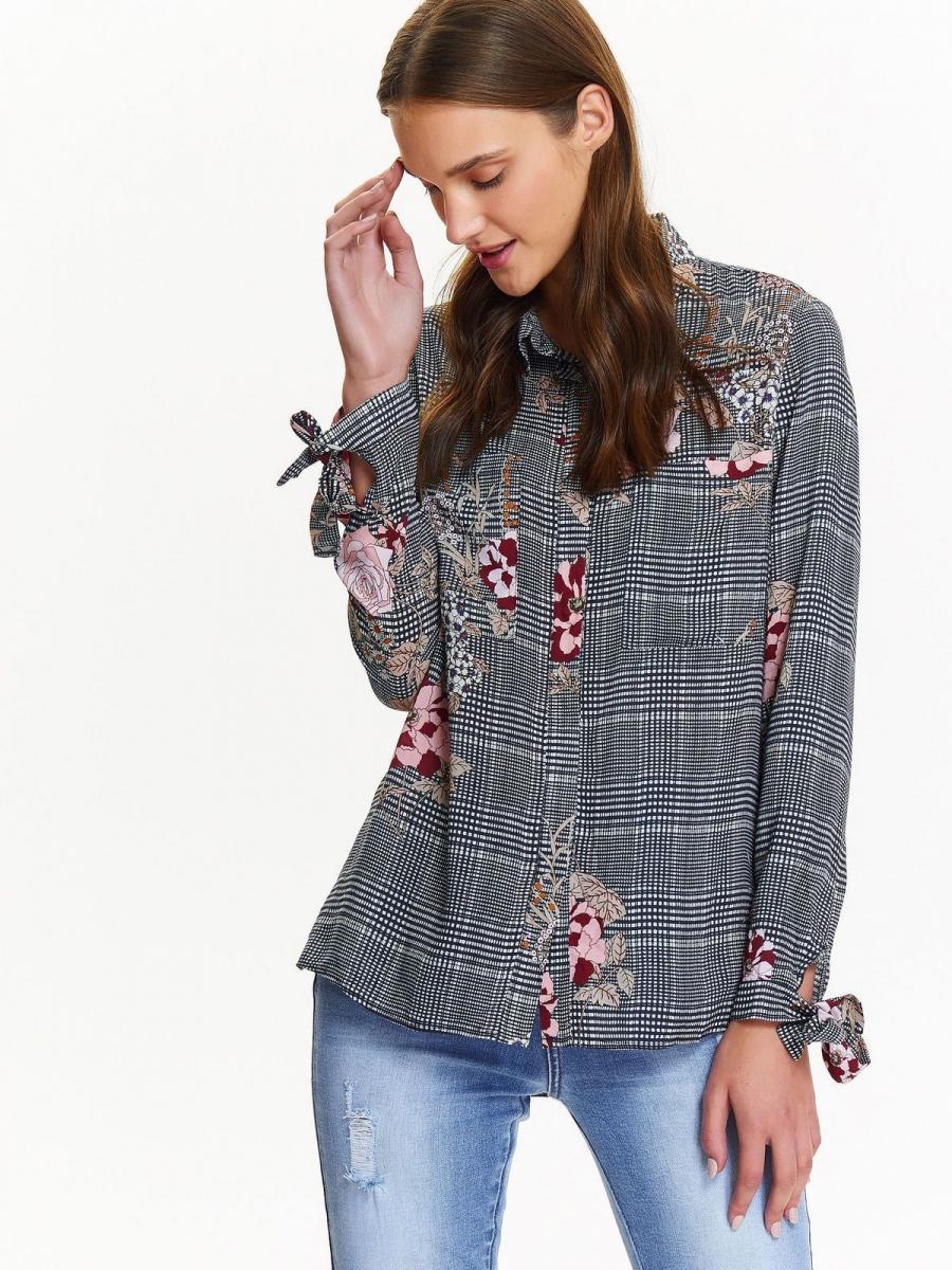 Top Secret Košile dámská s barevnými květy - černá - velikost 36