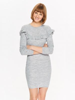Šaty dámské pletené s dlouhým rukávem