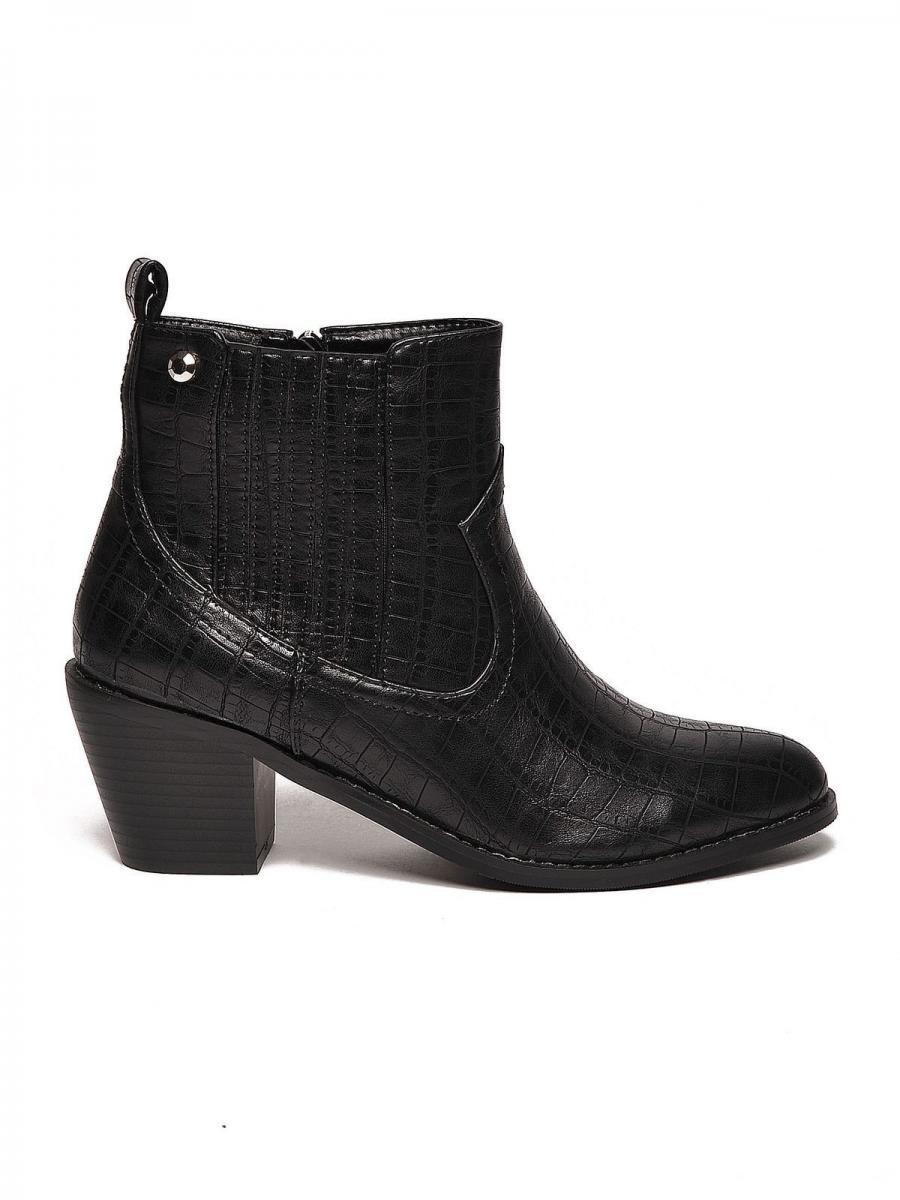Top Secret Boty dámské kotníkové na podpatku - černá - velikost 36