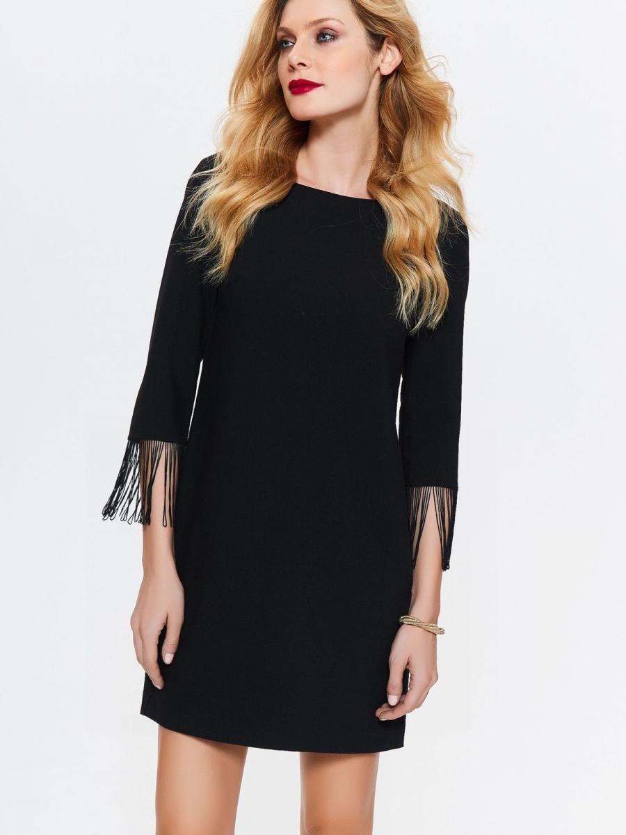 Top Secret šaty dámské černé s 3/4 rukávem
