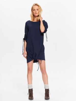 Šaty dámské s 3/4 rukávem a stahovací tkanicí poslední kus