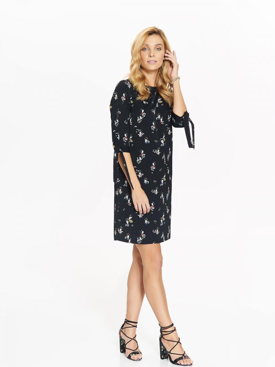 Top Secret šaty dámské GEJŠA s průstřihy na rukávech - černá - velikost 34
