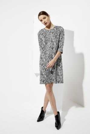 Šaty dámské vzorované s 3/4 rukávem