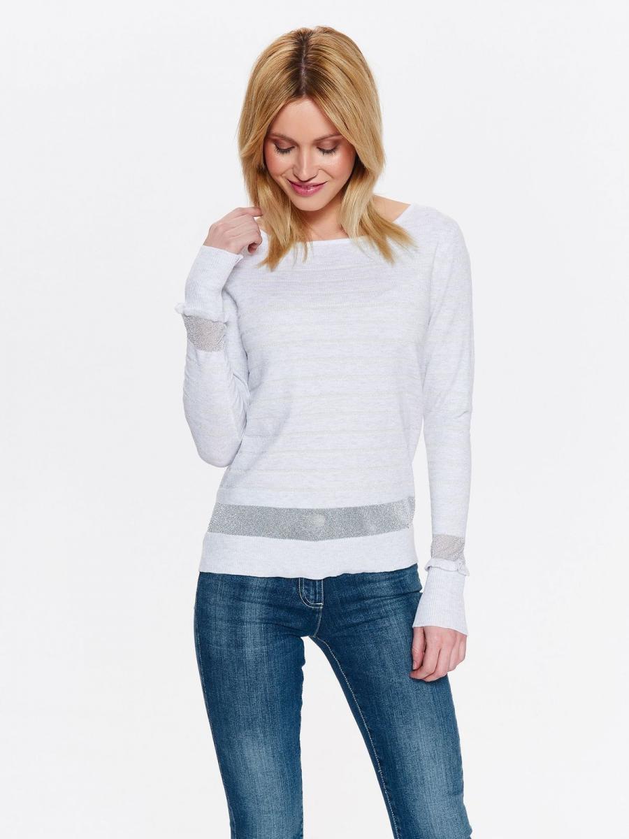 Top Secret Svetr dámský bílý s dlouhým rukávem - Bílá - velikost 42