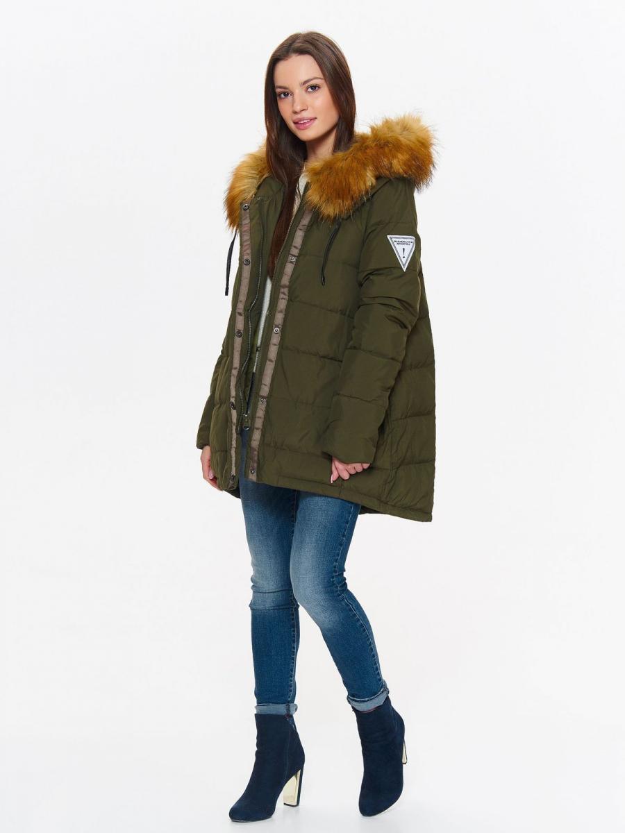Top Secret Bunda dámská péřová s kožíškovou kapucí