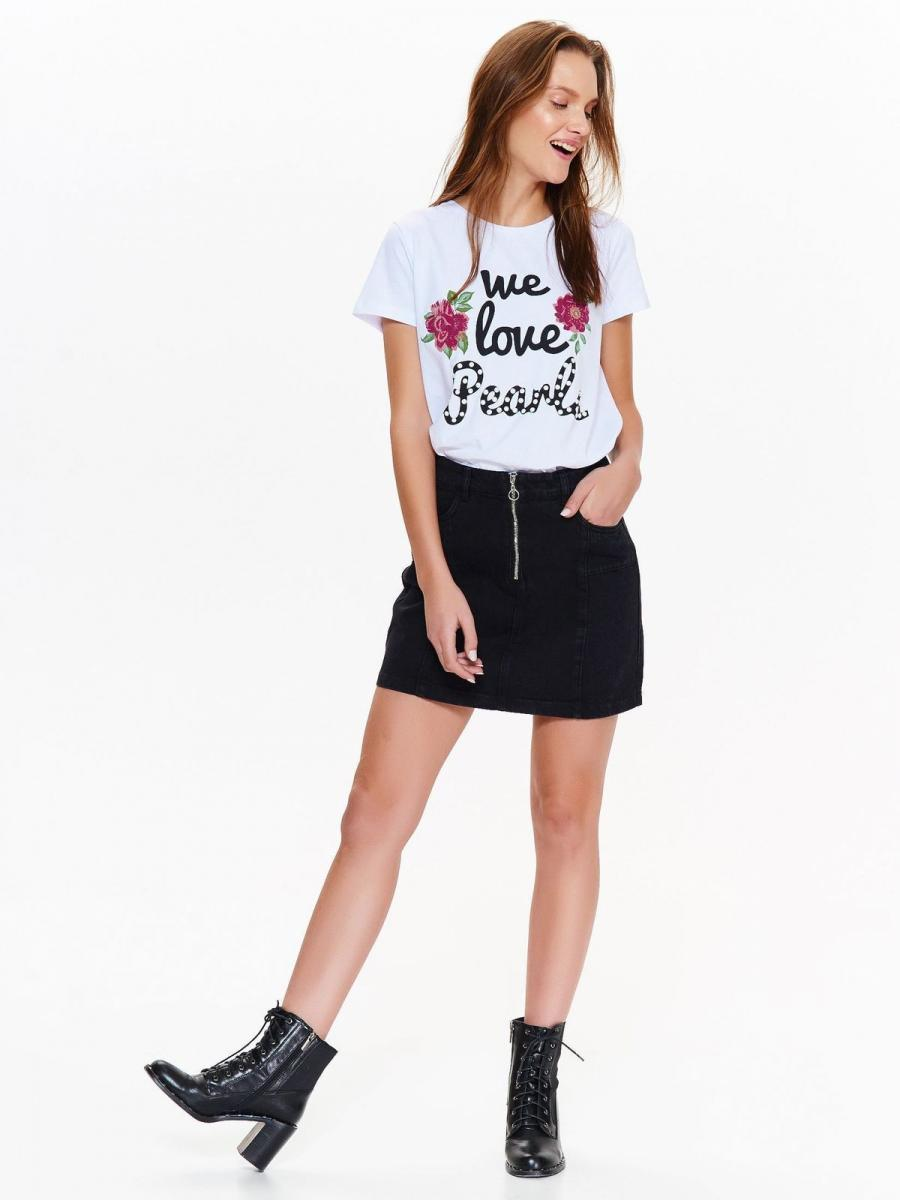 Top Secret Triko dámské LOVE PEARLS krátký rukáv