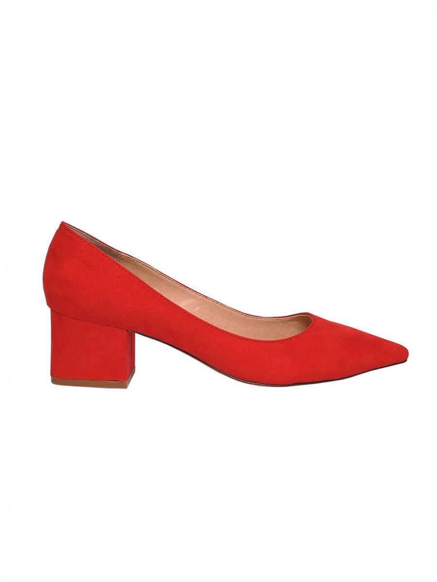 Top Secret Lodičky dámské červené na nízkém podpatku