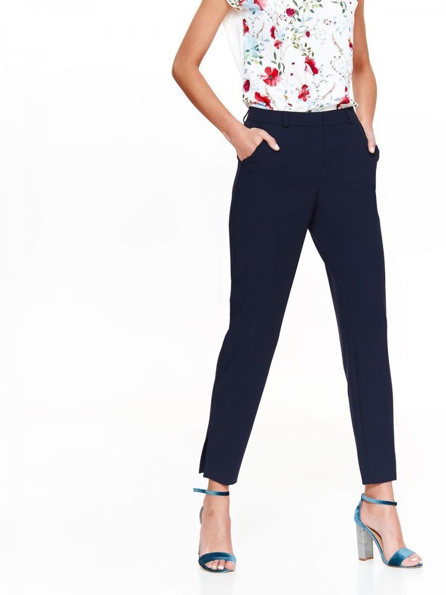 Top Secret Kalhoty dámské společenské tmavě modré s rozparky