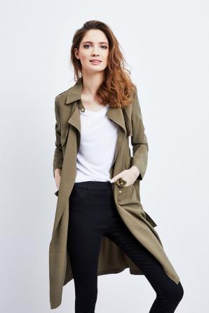 Kabát dámský jarní s páskem