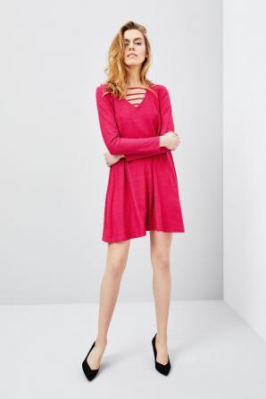 Šaty dámské s dlouhým rukávem