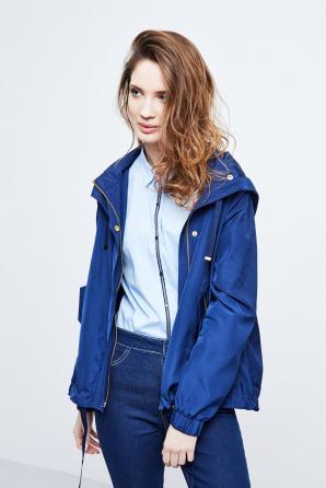 Bunda dámská na zip s kapucí