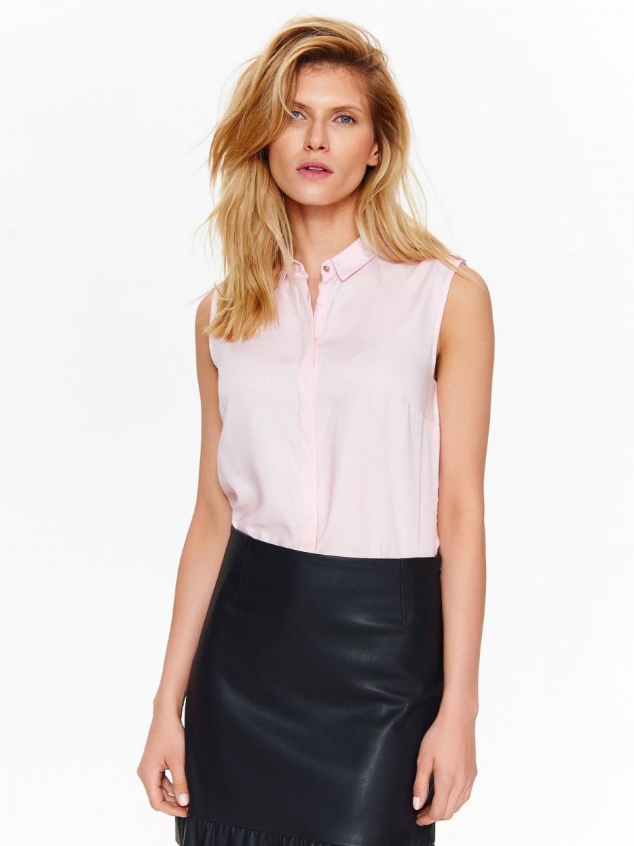 Top Secret Košile dámská světle růžová bez rukávu