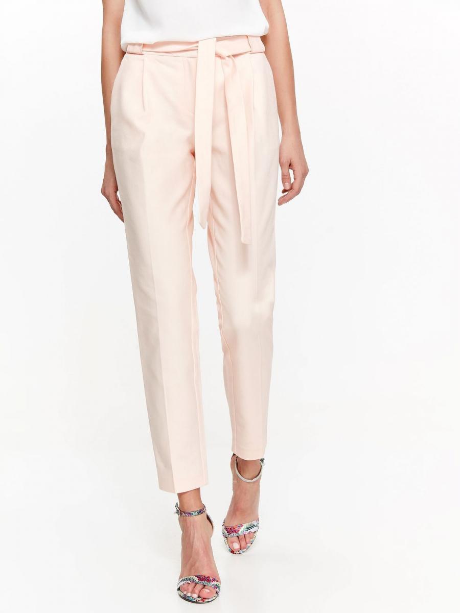 Top Secret Kalhoty dámské společenské růžové s páskem