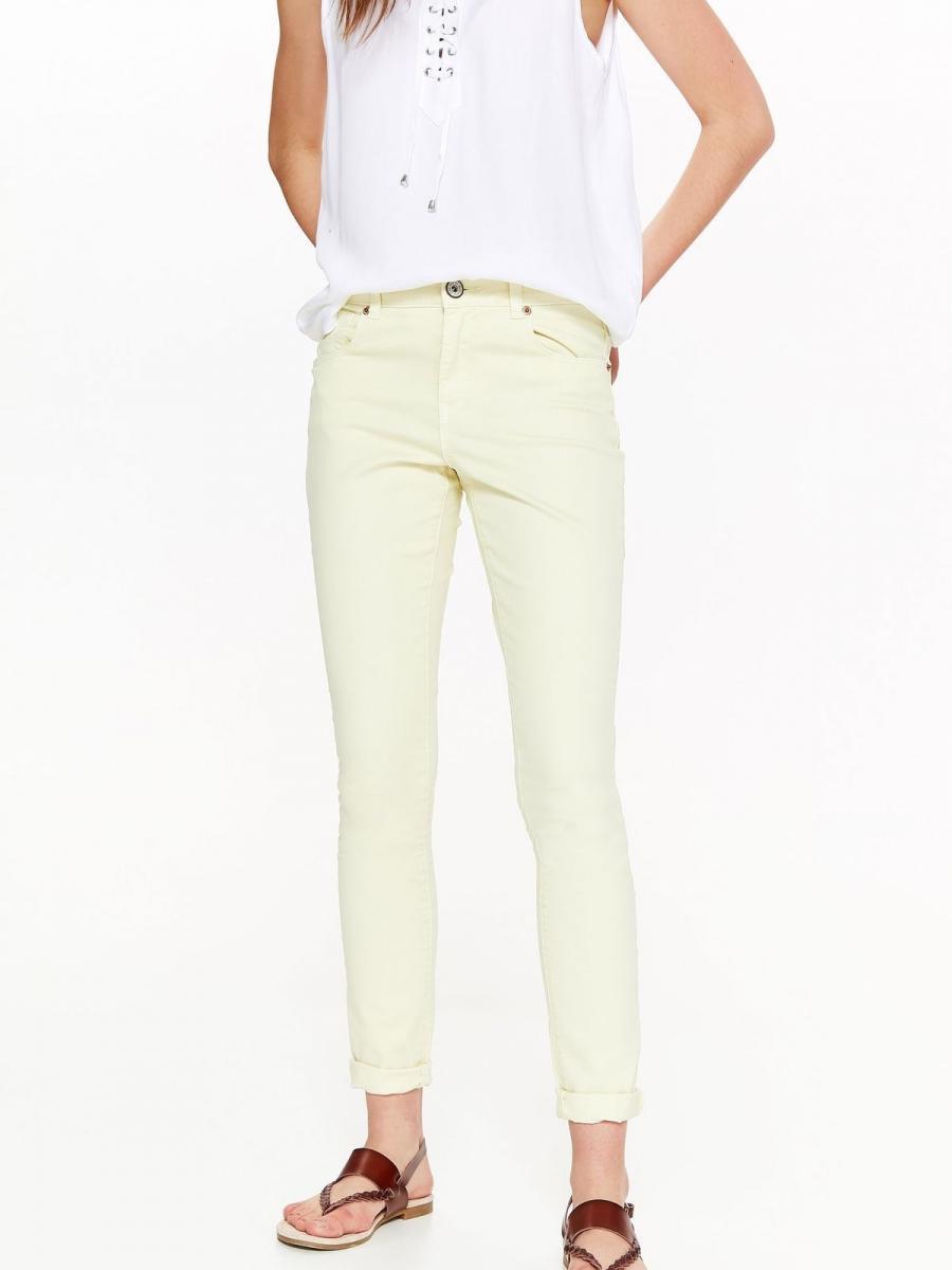 Top Secret Kalhoty dámské žluté