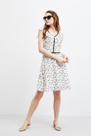 Šaty dámské vzorované s krátkým rukávem