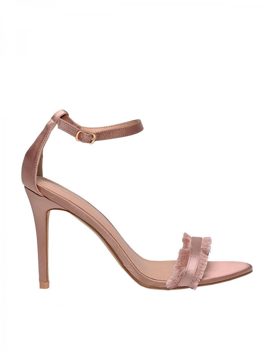 Top Secret Sandály dámské PINK na podpatku