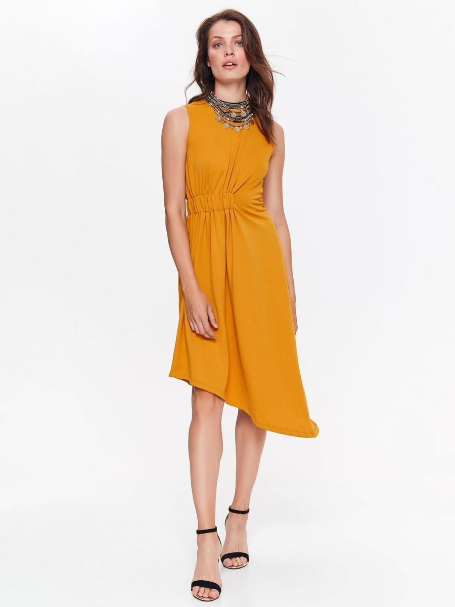 Top Secret šaty dámské žluté bez rukávu