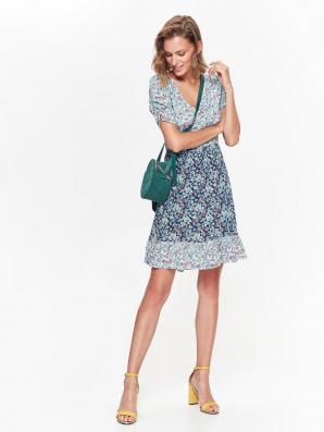 Šaty dámské květované s krátkým rukávem