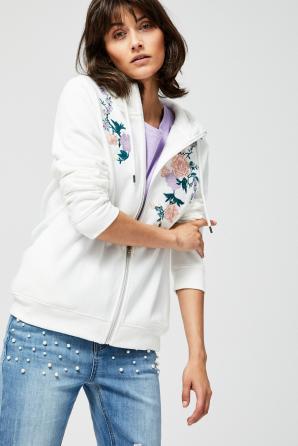 Mikina dámská FLOWER s kapucí na zip
