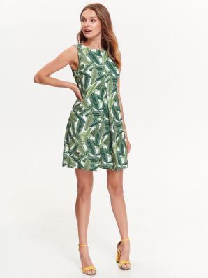 Šaty dámské zelené bez ramínek