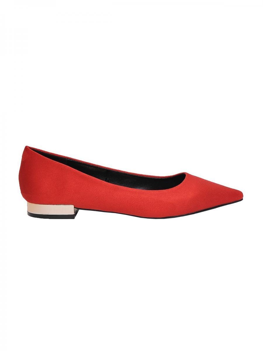 Top Secret Baleríny dámské semišové na nízkém podpatku