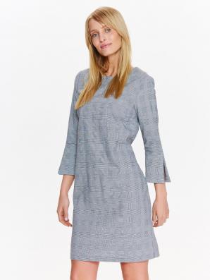 Šaty dámské šedé s 3/4 rukávem