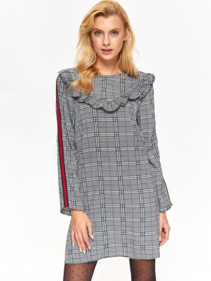Šaty dámské kostkované s dlouhým rukávem