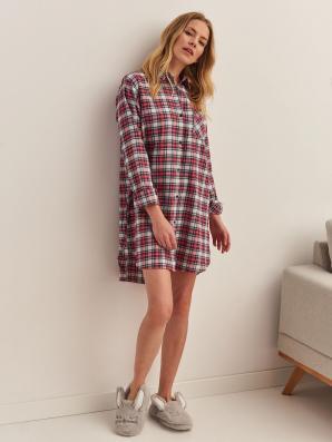 Pyžamo dámské kostkované