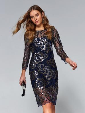 Šaty dámské zdobené flitry