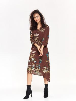 Šaty dámské se vzorem a 3/4 rukávem