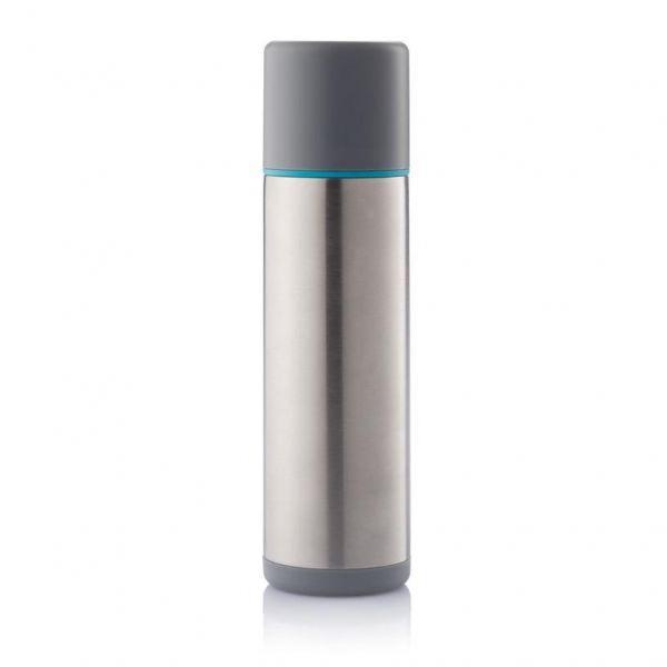 XD Design Termoska TORRE 500 ml šedá/ modrý proužek