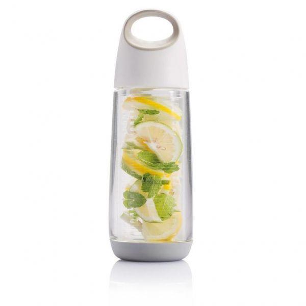 XD Design Láhev na vodu a ovoce Bopp Fruit, 650 ml - Bílá
